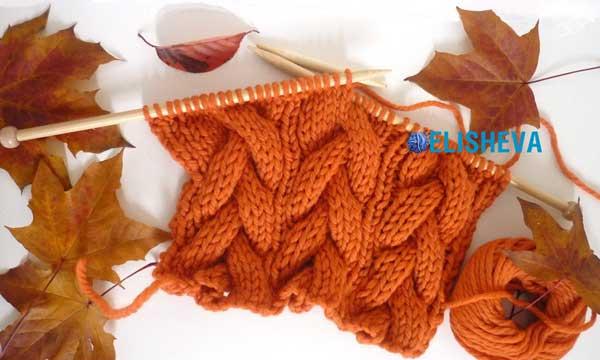 Схемы вязания шапок с косами спицами с описанием. Узоры для.