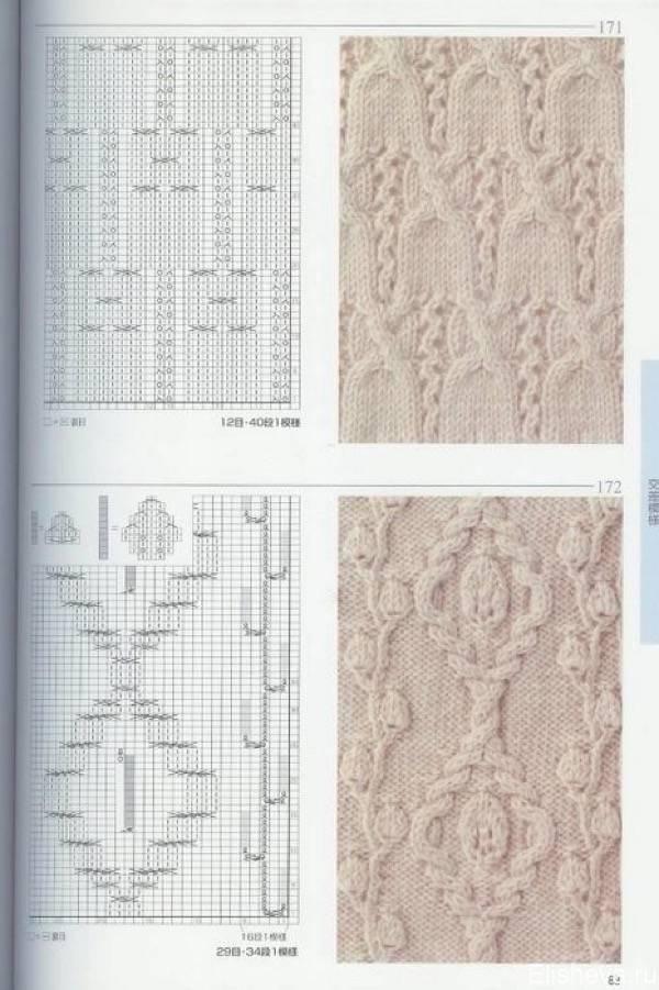 Узоры вязок со схемами фото 228