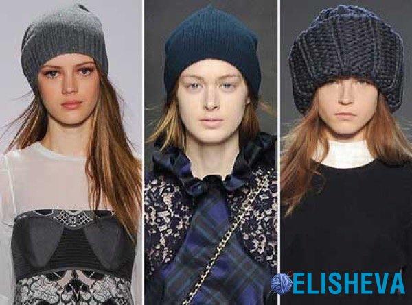 модные вязаные шапки зима 2016