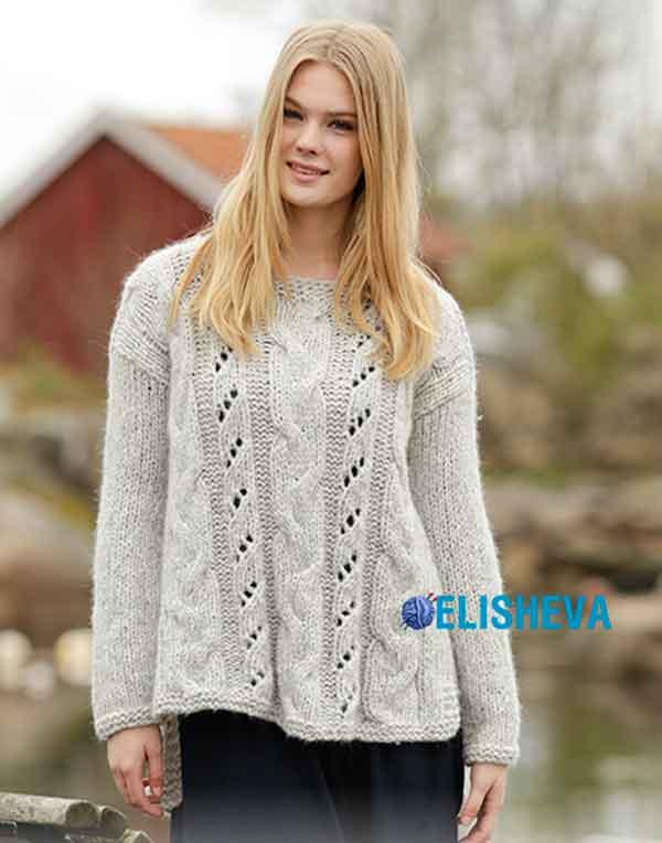 Вязание спицами кофты свитера схема фото 763