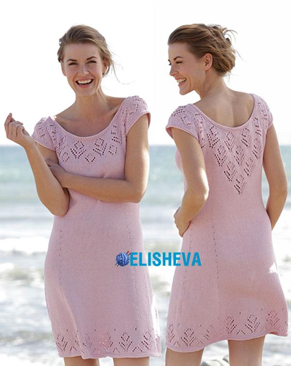 "Летнее платье ""Beach Date"" от Drops Design вязаное спицами"