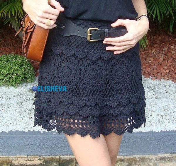 Ажурная юбка вязаная крючком: схема красивого узора