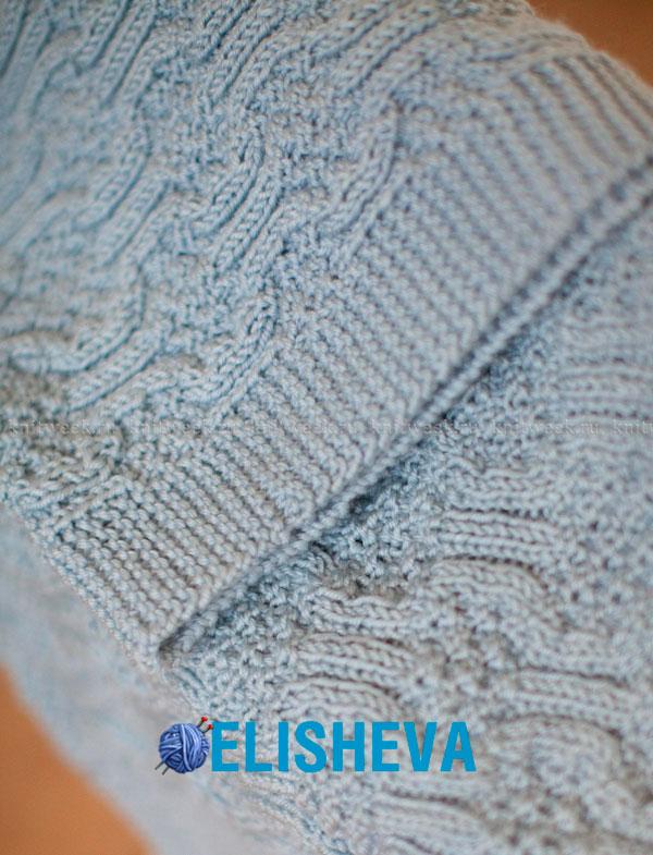 Детский плед от Ella Rae с узором мозаика: описание вязания спицами