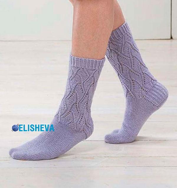 Красивые, ажурные носки для женщин Day Lily от Willow Yarns