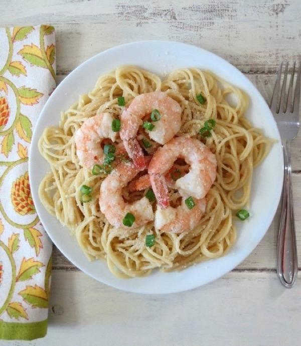 Спагетти с креветками рецепт пошагово
