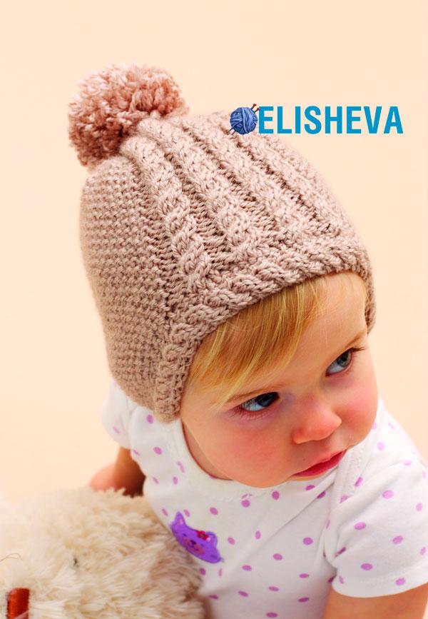 Вязание шапочек для маленьких спицами