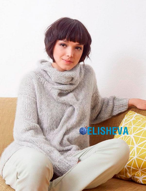 красивый свитер из мохера спицами схема