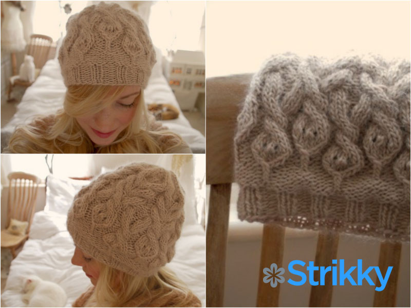 Шапочка «The parseltongue hat» от Stephanie Dosen (Tiny Owl Knits) вязаная спицами